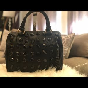 HD by M Satchel Bag Black with Jewels